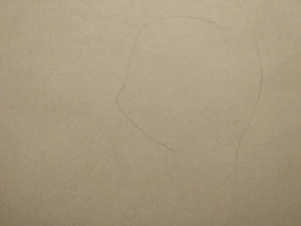 Рисуем раскрасить спящего Пикачу карандашами - шаг 1