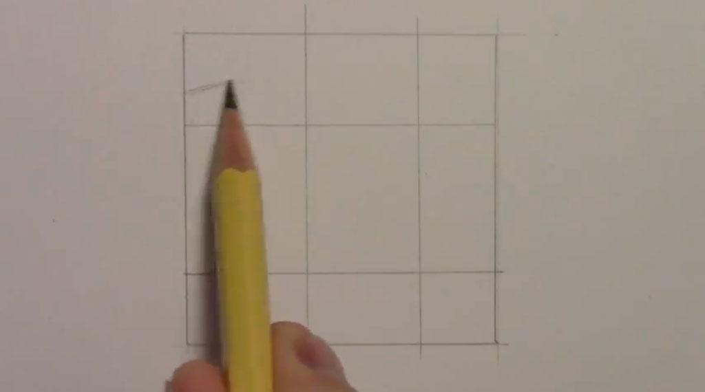 Рисуем манга парня - шаг 1
