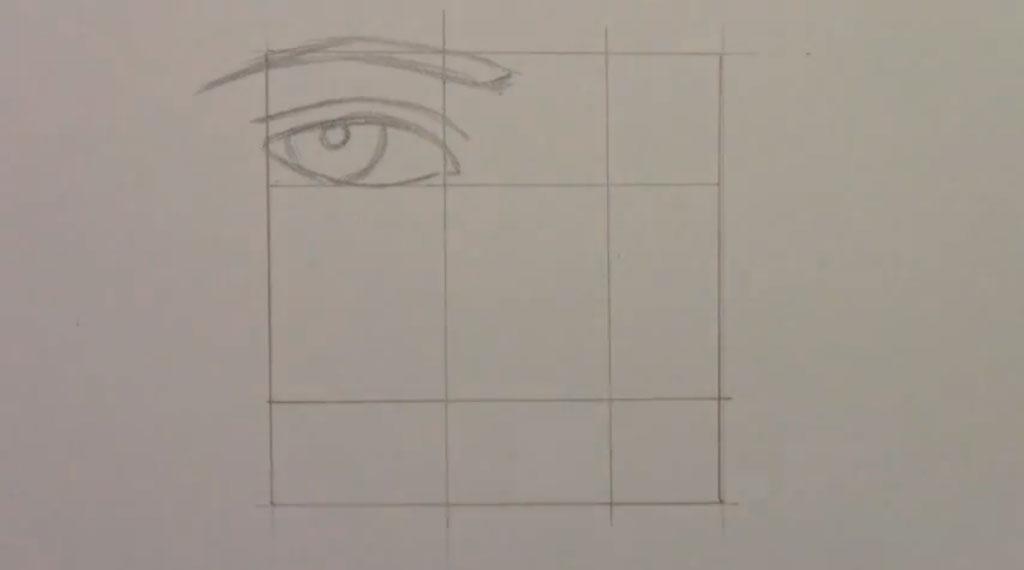 Рисуем манга парня - шаг 2