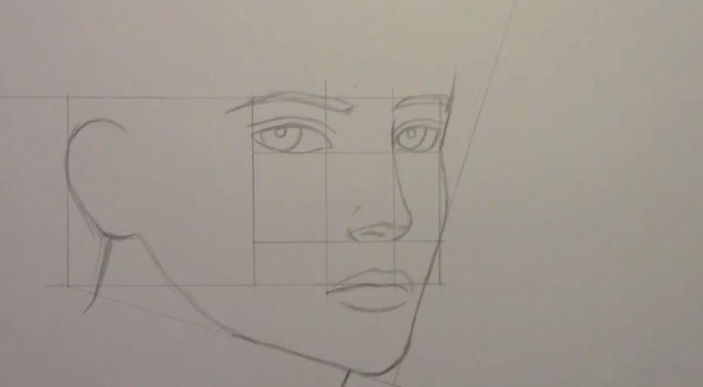 Рисуем манга парня - шаг 7