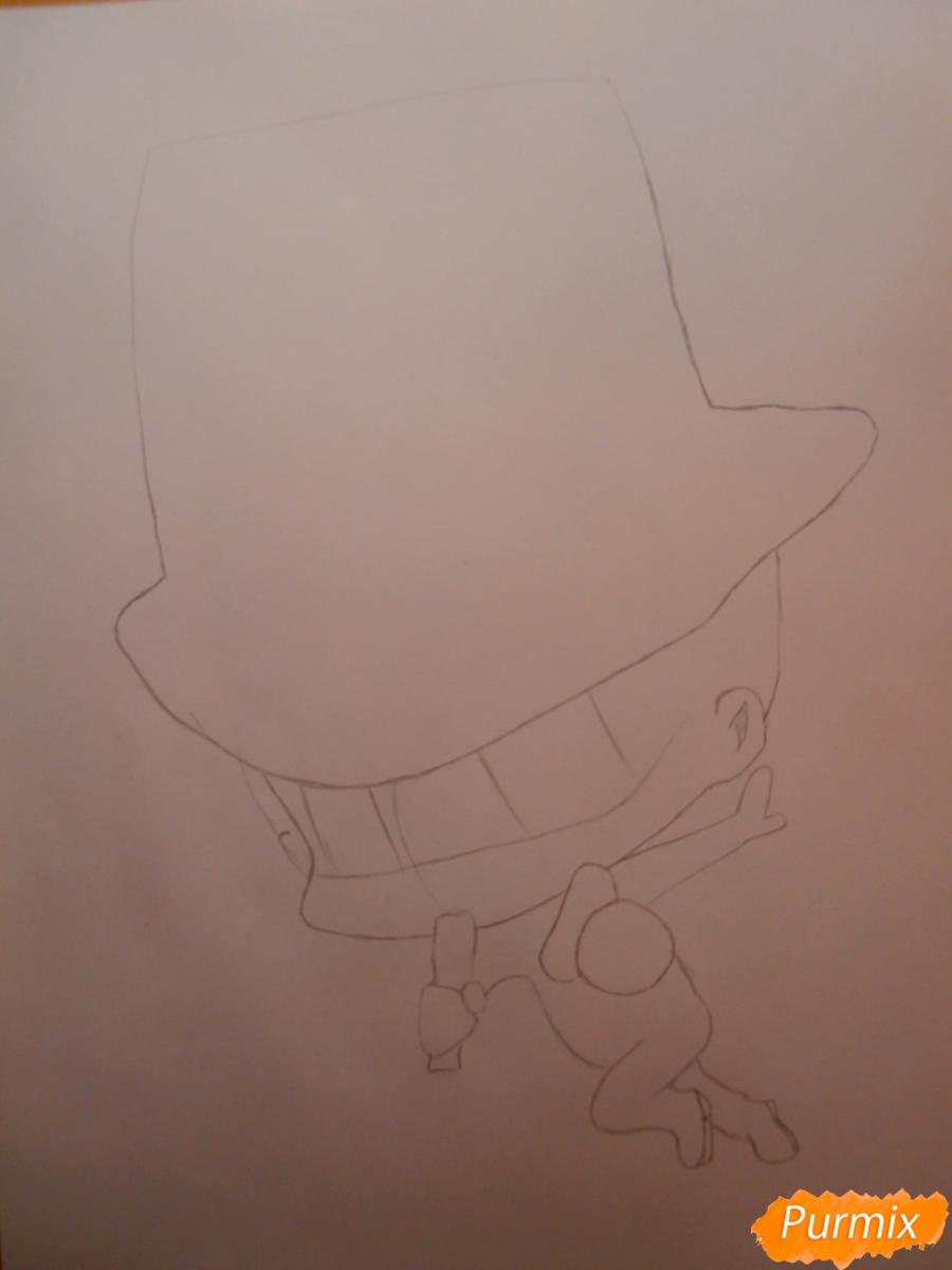 Рисуем Реборна в форме Аркобалено - шаг 1