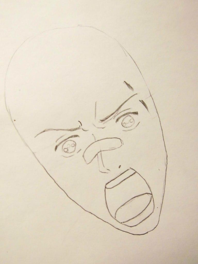 Рисуем Рёхэя Сасагава из Реборна