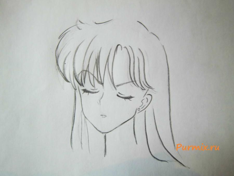 Как нарисовать Рей Хино из аниме Сейлор Мун: Кристалл