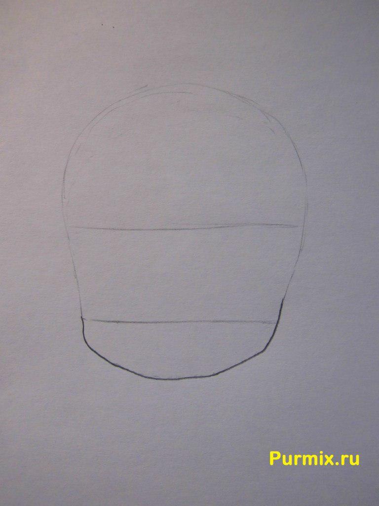 Рисуем Рицу Таинака в стиле чиби - шаг 1
