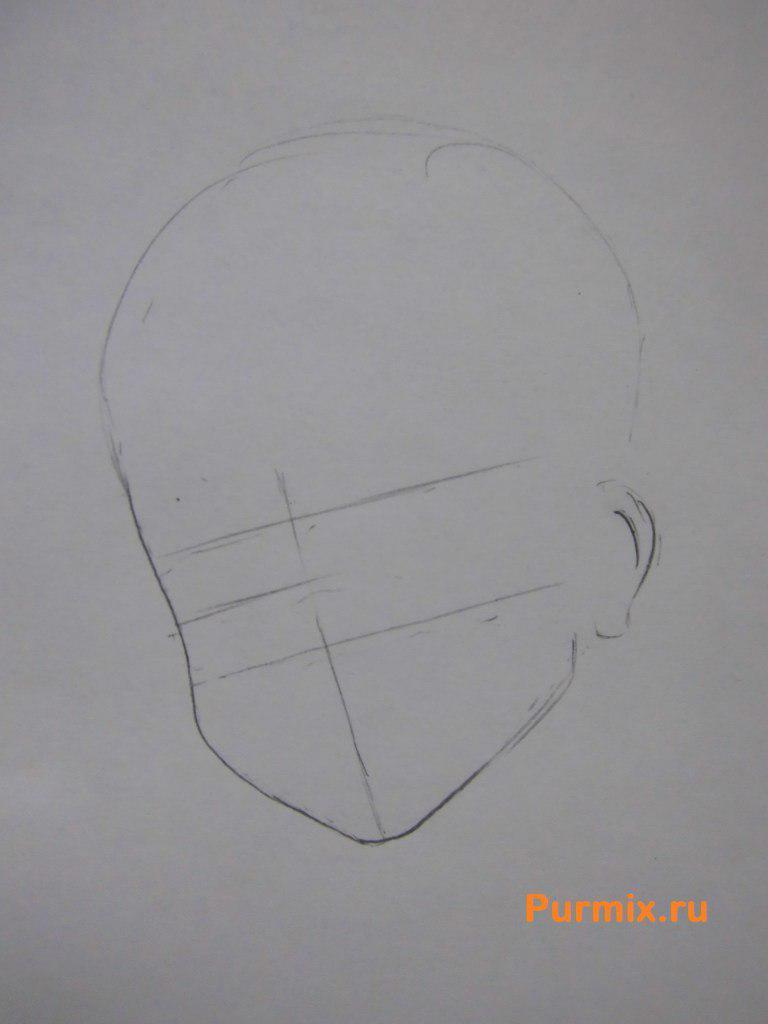 Рисуем Рицу Таинака из аниме K-on - шаг 1