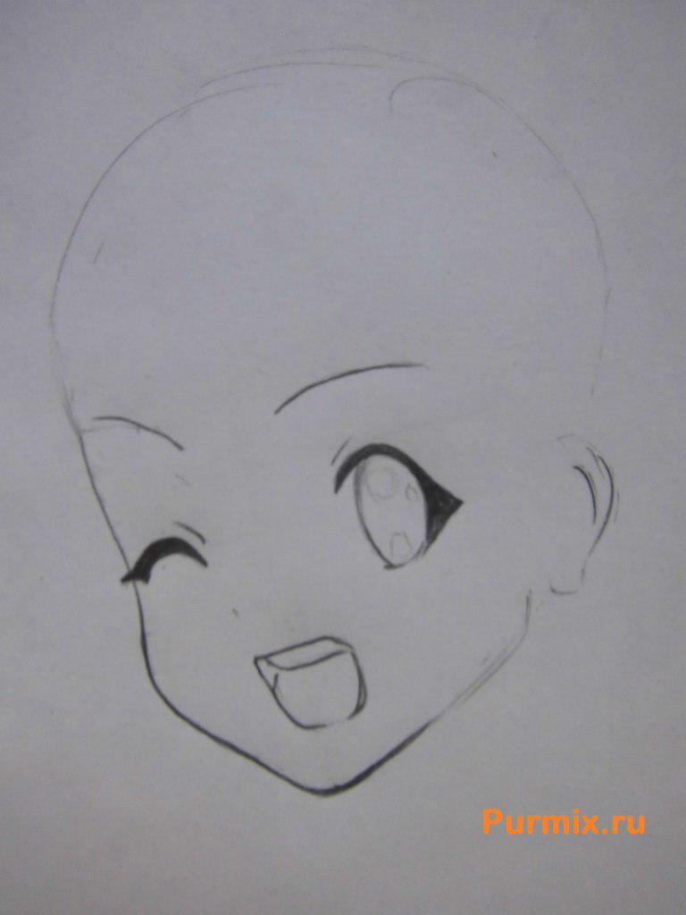Рисуем Рицу Таинака из аниме K-on - шаг 2