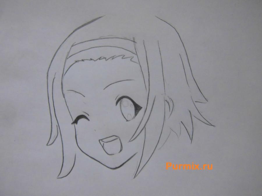 Рисуем Рицу Таинака из аниме K-on - шаг 3