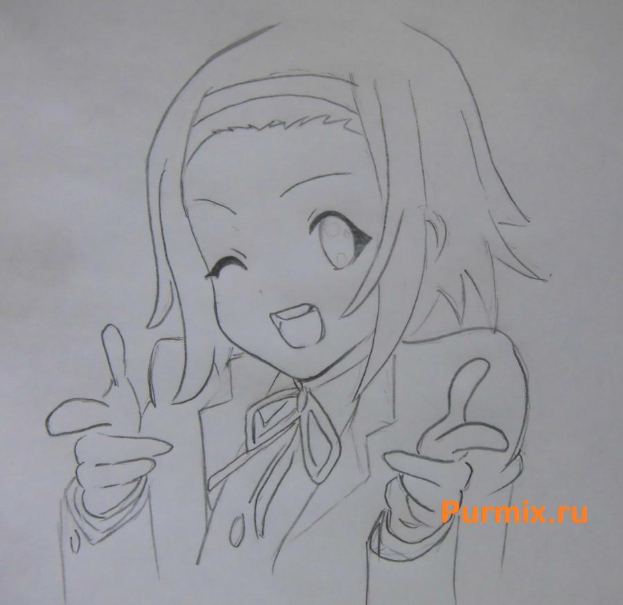 Рисуем Рицу Таинака из аниме K-on - шаг 4