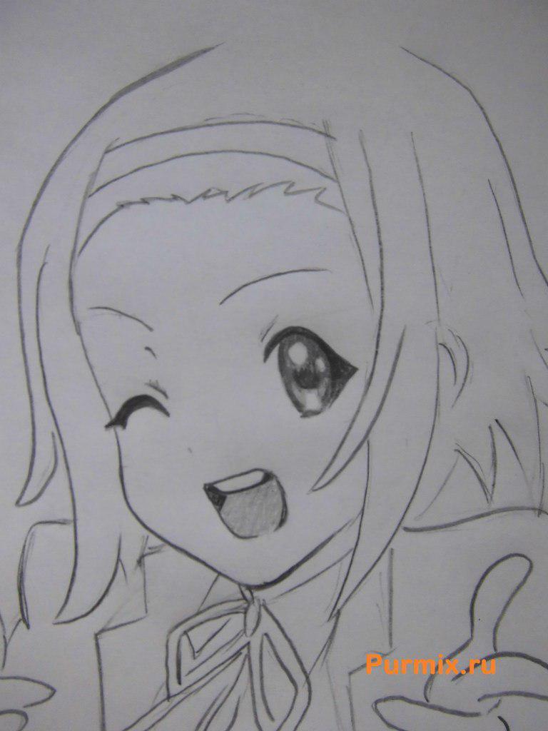 Рисуем Рицу Таинака из аниме K-on - шаг 5