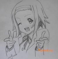 Рисунок Рицу Таинака из аниме K-on