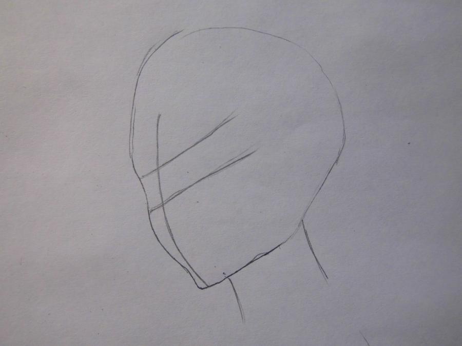 Учимся рисовать Рукию Кучики из аниме Блич - шаг 1