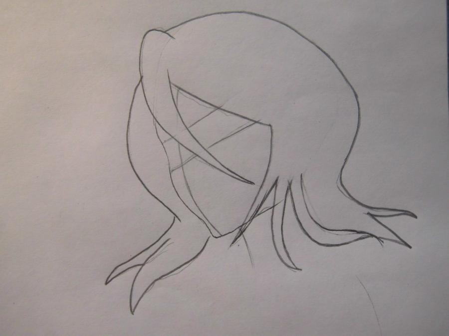 Учимся рисовать Рукию Кучики из аниме Блич - шаг 2