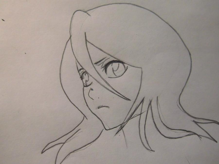 Учимся рисовать Рукию Кучики из аниме Блич - шаг 3