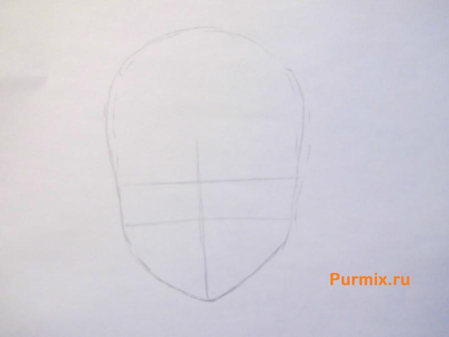 Рисуем Руру из аниме Монохромный фактор