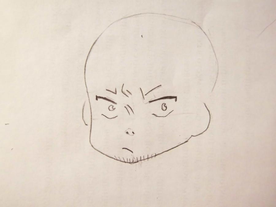 Как нарисовать Рюдзи Сугуро из аниме Синий Экзорцис