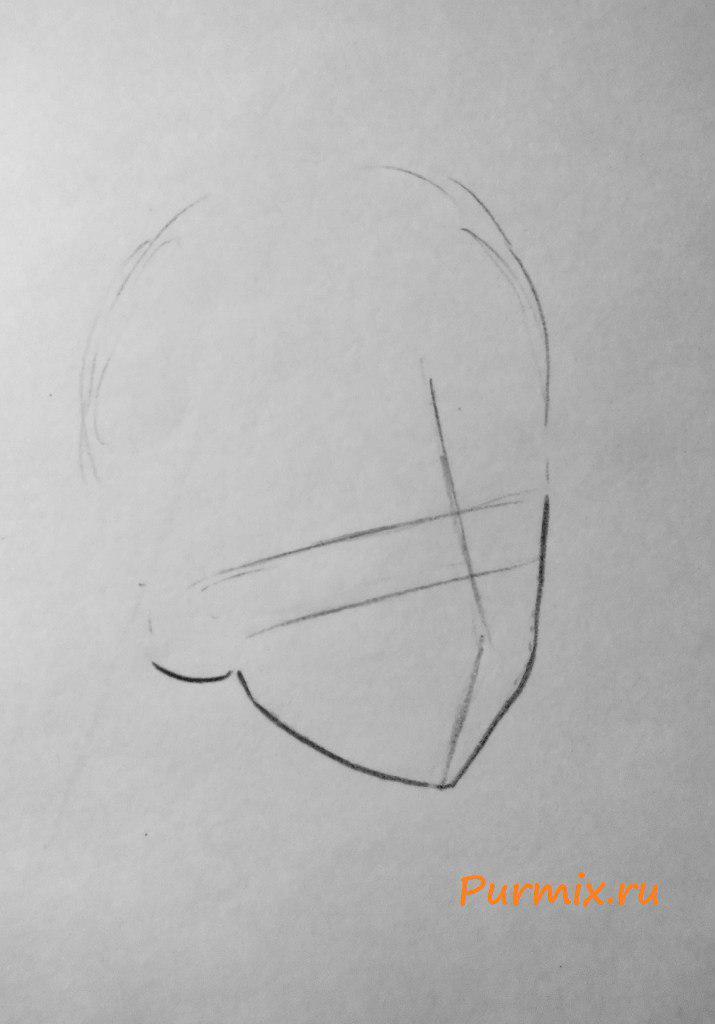 Как нарисовать Сацуки Кирюин из аниме Убей или умри карандашом