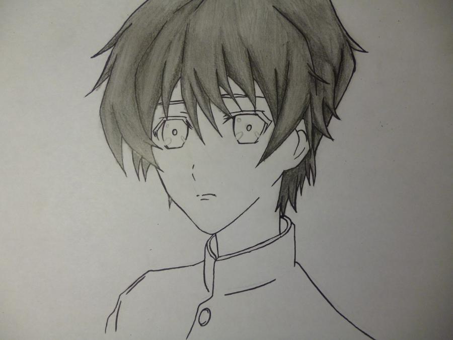 Рисуем Сакакибара Коичи из аниме Иная простым