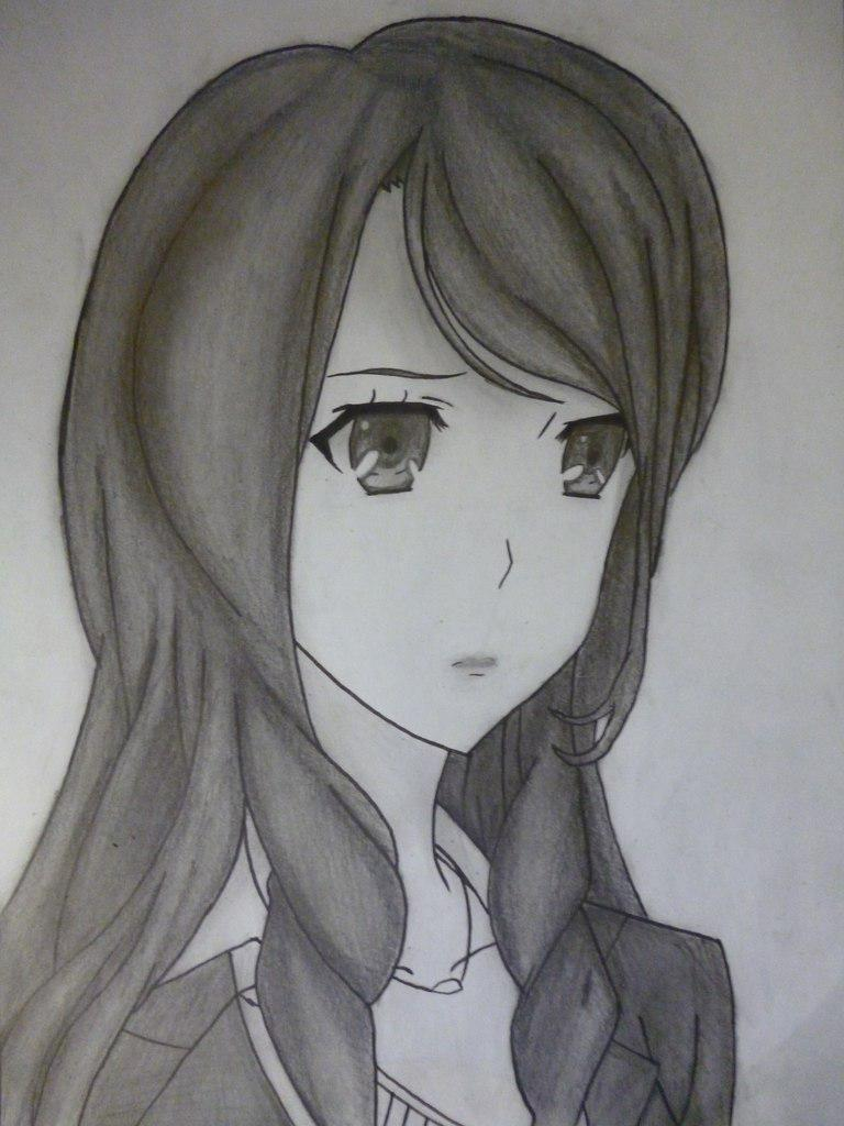Рисуем Сакакибара Наоко из аниме Иная простым