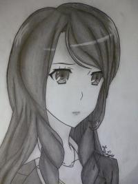 Фото Сакакибара Наоко из аниме Иная простым карандашом