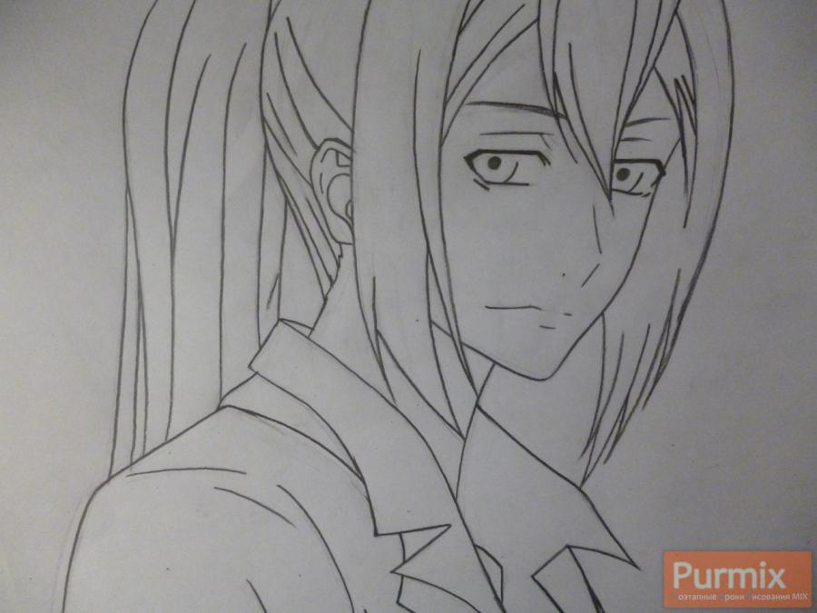 Рисуем Самона Кусарибэ из аниме Буря потерь