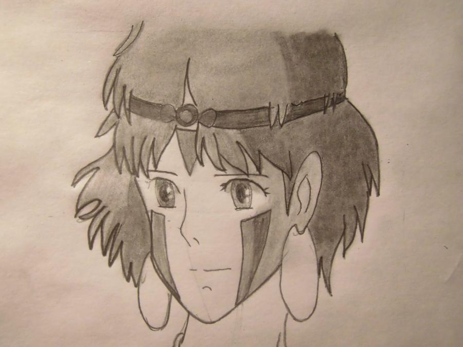 Рисуем Сан из Принцесса мононоке