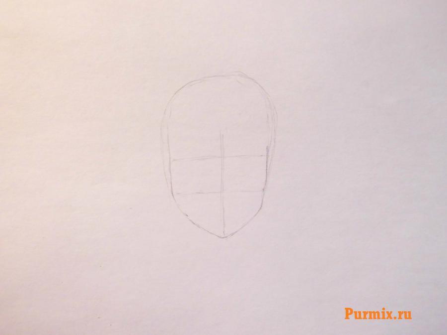 Рисуем Санго из аниме Инуяша  на бумаге
