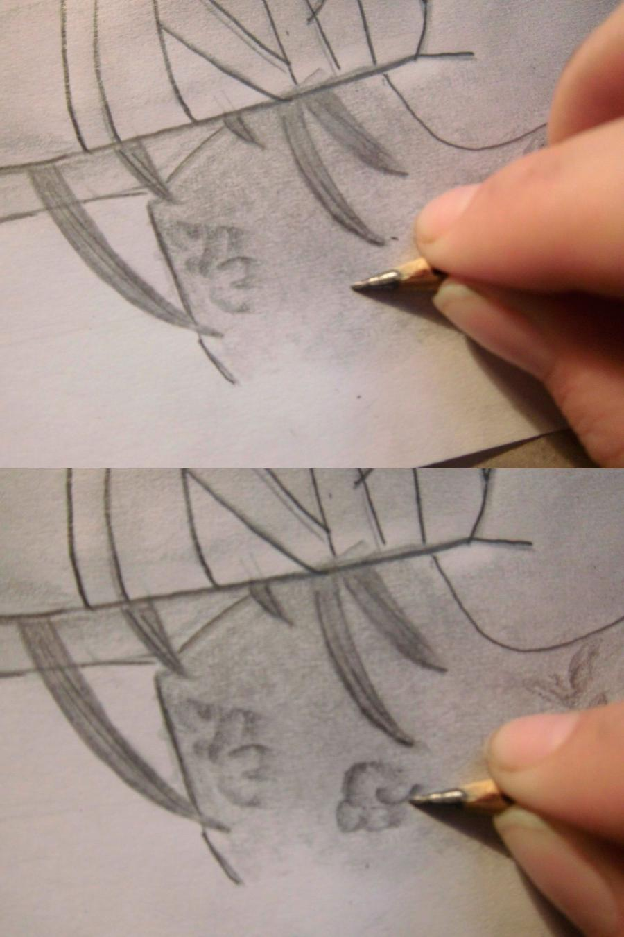 Рисуем Санка Рэю из Sankarea