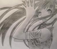 Как нарисовать Санка Рэю из Sankarea карандашом поэтапно