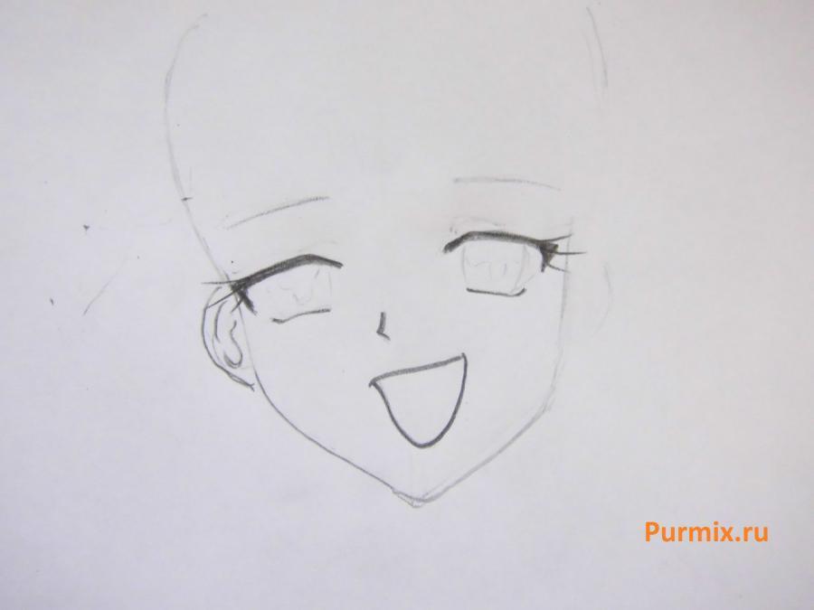Как нарисовать Сару из аниме Мелодия русалки простым карандашом