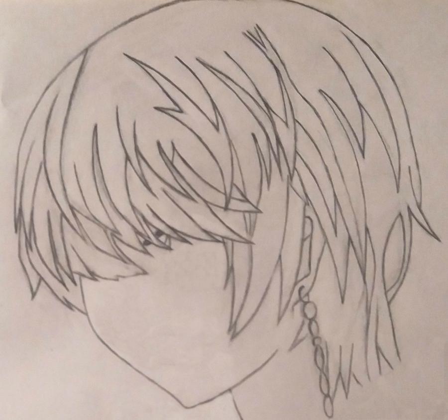 Рисуем Сашу Хелл из аниме Стигматы Квайзеров простым - шаг 2