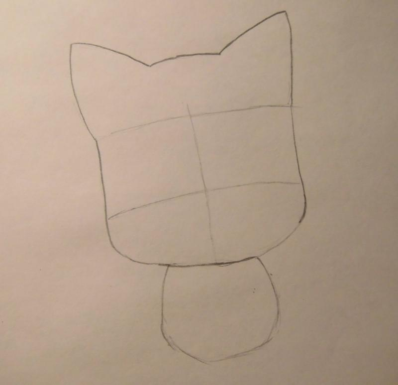 Как нарисовать счастливого Хеппи из Fairy Tail поэтапно