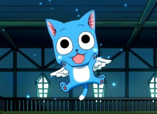 Рисуем счастливого Хеппи из Fairy Tail