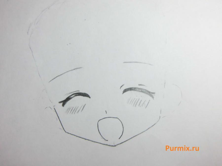 Как нарисовать счастливую аниме девочку простым карандашом