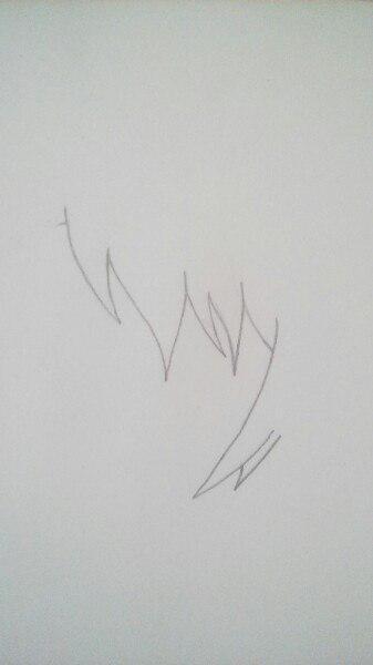 Как нарисовать Сё Курусу из Поющего принца карандашом поэтапно - шаг 1