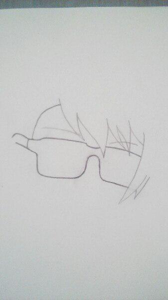Как нарисовать Сё Курусу из Поющего принца карандашом поэтапно - шаг 2