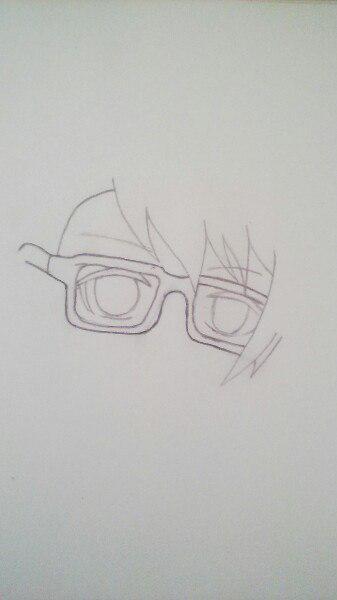 Как нарисовать Сё Курусу из Поющего принца карандашом поэтапно - шаг 3