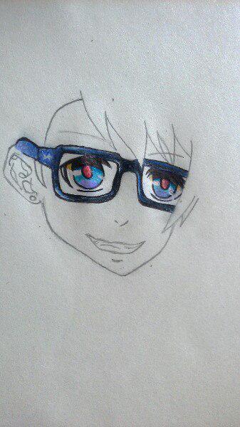 Как нарисовать Сё Курусу из Поющего принца карандашом поэтапно - шаг 5