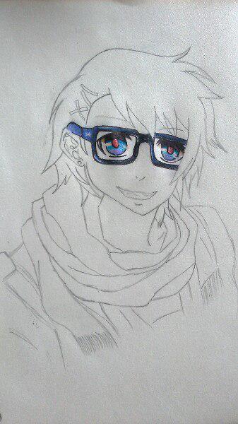Как нарисовать Сё Курусу из Поющего принца карандашом поэтапно - шаг 6