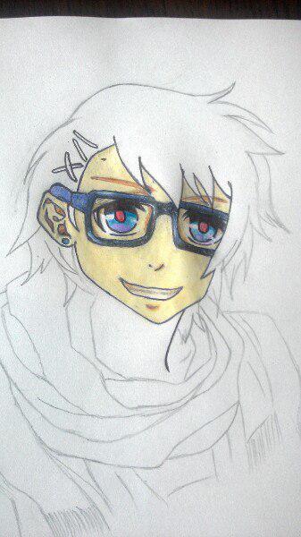 Как нарисовать Сё Курусу из Поющего принца карандашом поэтапно - шаг 7