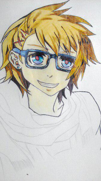 Как нарисовать Сё Курусу из Поющего принца карандашом поэтапно - шаг 8