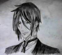 Фото Себастьяна из тёмного дворецкого карандашом
