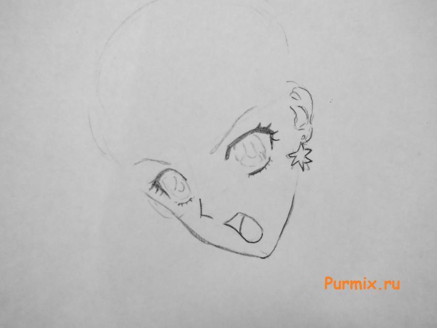 Рисуем Сейлор Марс из аниме Sailor Moon Crystal - шаг 2