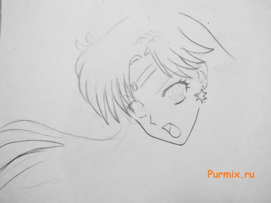 Рисуем Сейлор Марс из аниме Sailor Moon Crystal - шаг 3