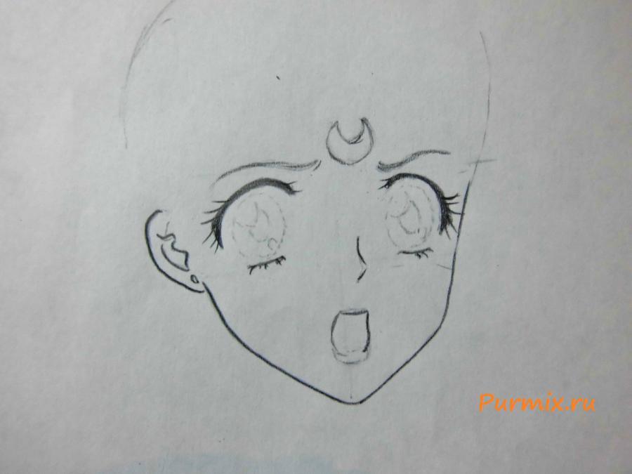 Рисуем портрет Сейлор Венеру - шаг 2