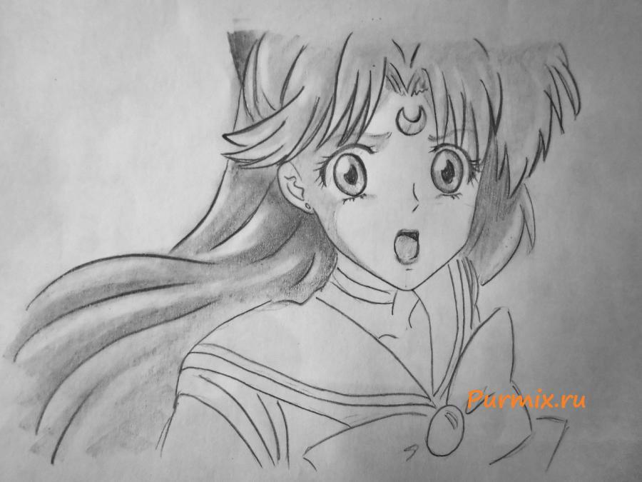 Рисуем портрет Сейлор Венеру - шаг 6