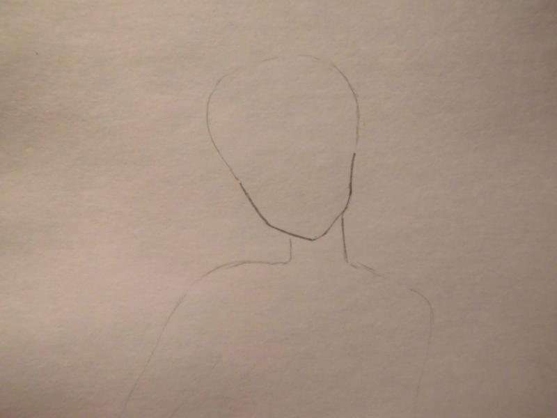 Рисуем Сейлор Юпитер карандашами - шаг 1