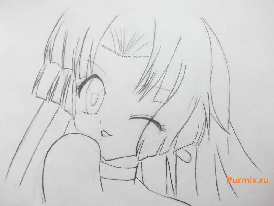 Как нарисовать Сейру из аниме Мелодия русалки простым карандашом
