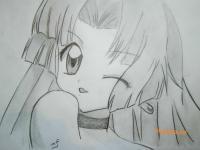 Фото Сейру из аниме Мелодия русалки простым карандашом