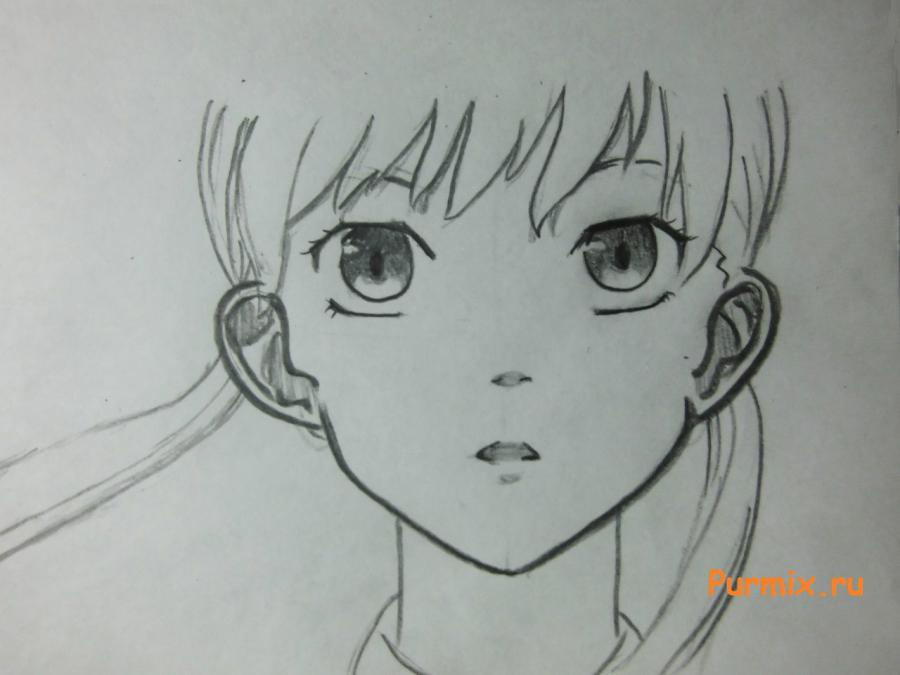 Рисуем Шизуку Мизутани из аниме Монстр за соседней партой