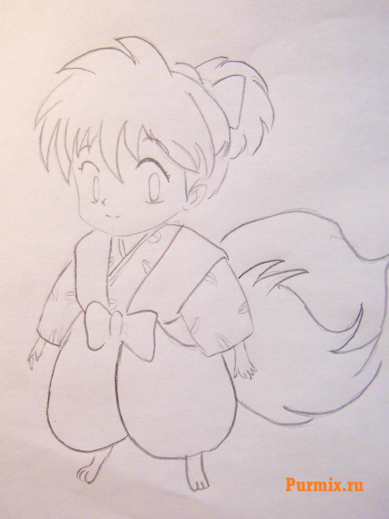 Рисуем Сиппо из аниме Инуяша